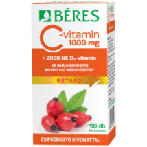 Béres C-vitamin 1000 mg csipke D3 2000NE ret.tabl. 90x