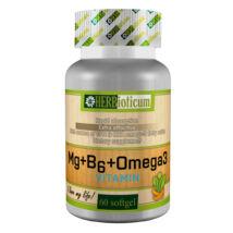 Herbioticum Mg+B6+Omega-3 lágykapszula 60x