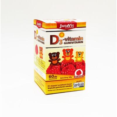 JutaVit D3-vitamin gumivitamin málna ízű 60x