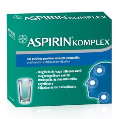 Aspirin Komplex 500 mg/30 mg granulát.bels.szuszp. 20x