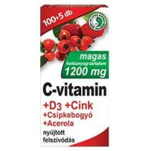Dr.Chen C-vitamin+D3+cink+csipke+acerola filmtabl. 100x+5x