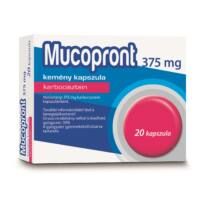 Mucopront 375 mg kemény kapszula 20x