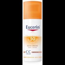 Eucerin Sun Színezett napozó krém arcra FF50+ 50ml