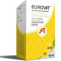 Eurovit C+ D-vitamin tabletta csipkebogyóval 90x
