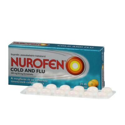 Nurofen Cold and Flu 200 mg/30 mg filmtabletta 24x