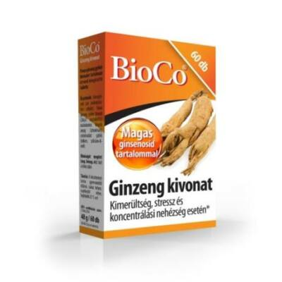 BioCo Ginzeng kivonat tabletta  60x