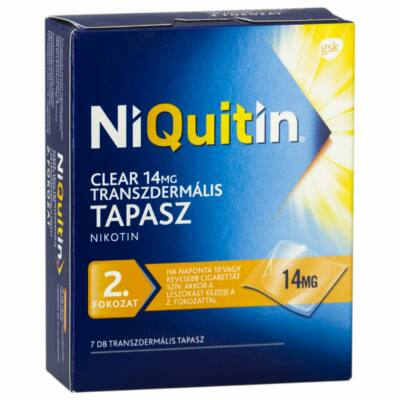 NiQuitin Clear 14 mg transzdermális tapasz 7x