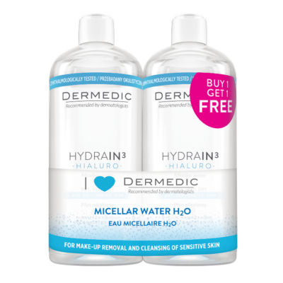 Dermedic Hydrain Micellás víz 2x500ml duopack 1000ml