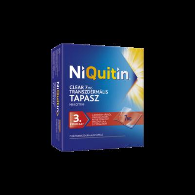 NiQuitin Clear  7 mg transzdermális tapasz 7x