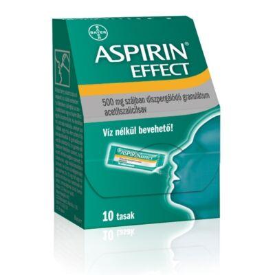 Aspirin Effect 500 mg szájban diszperg.granulátum 10x
