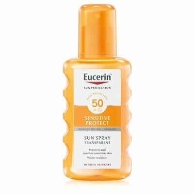 Eucerin Sun Színtelen napozó spray FF50 200ml