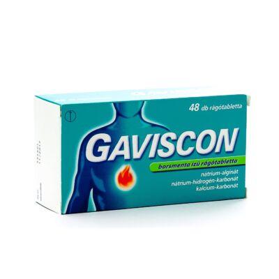 Gaviscon borsmenta ízű rágótabletta 48x