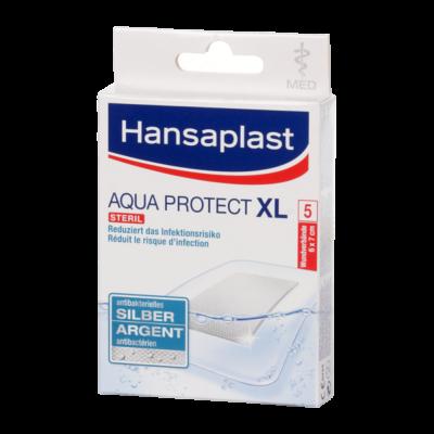 Hansaplast Med Silver Aqua Protect sebtapasz XL 5x